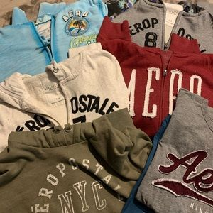 Lot of Aeropostale hoodies and tees